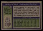 1972 Topps #184  Pete Beathard  Back Thumbnail