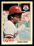 1978 Topps #700  Johnny Bench  Front Thumbnail