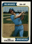 1974 Topps #124  Bob Coluccio  Front Thumbnail