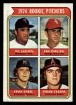 1974 Topps #605   -  Vic Albury / Ken Frailing / Kevin Kobel / Frank Tanana Rookie Pitchers  Front Thumbnail