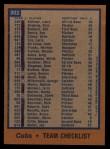 1978 Topps #302   Cubs Team Checklist Back Thumbnail