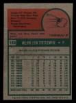 1975 Topps Mini #183  Mel Stottlemyre  Back Thumbnail