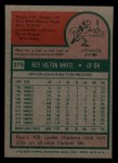 1975 Topps Mini #375  Roy White  Back Thumbnail