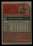 1975 Topps Mini #131  Toby Harrah  Back Thumbnail