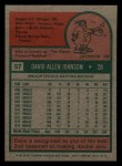 1975 Topps Mini #57  Davey Johnson  Back Thumbnail