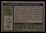 1972 Topps #229  Carl Garrett  Back Thumbnail