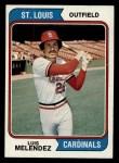 1974 Topps #307  Luis Melendez  Front Thumbnail
