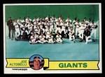 1979 Topps #356   -  Joe Altobelli Giants Team Checklist Front Thumbnail