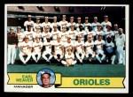 1979 Topps #689   -  Earl Weaver Orioles Team Checklist Front Thumbnail