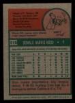 1975 Topps Mini #516  Don Hood  Back Thumbnail