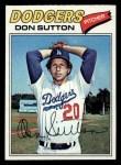 1977 Topps #620  Don Sutton  Front Thumbnail