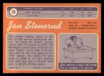 1970 Topps #25  Jan Stenerud  Back Thumbnail