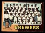1975 Topps Mini #384   -  Del Crandall Brewers Team Checklist Front Thumbnail