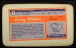 1970 Topps Super #9  Larry Wilson  Back Thumbnail