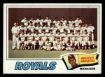 1977 Topps #371   -  Whitey Herzog Royals Team Checklist Front Thumbnail