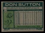 1977 Topps #620  Don Sutton  Back Thumbnail