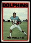 1972 Topps #167  Paul Warfield  Front Thumbnail