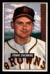 1951 Bowman #280  Frank Overmire  Front Thumbnail