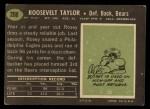 1969 Topps #208  Rosey Taylor  Back Thumbnail