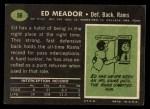 1969 Topps #56  Ed Meador  Back Thumbnail