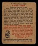 1949 Bowman #29  Ralph Kiner  Back Thumbnail