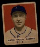 1949 Bowman #144  Milton Haefner  Front Thumbnail