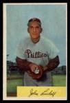 1954 Bowman #159  Johnny Lindell  Front Thumbnail
