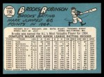 1965 Topps #150  Brooks Robinson  Back Thumbnail