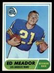 1968 Topps #106  Ed Meador  Front Thumbnail