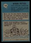 1964 Philadelphia #149  Myron Pottios  Back Thumbnail