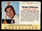 1963 Post Cereal #59  Brooks Robinson  Front Thumbnail