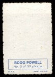 1969 Topps Deckle Edge #2  Boog Powell    Back Thumbnail