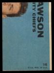 1968 Topps #146  Ode Burrell  Back Thumbnail