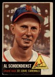 1953 Topps #78  Al  Red  Schoendienst  Front Thumbnail