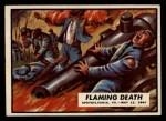 1962 Topps Civil War News #65   Flaming Death Front Thumbnail