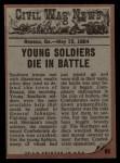 1962 Topps Civil War News #66   Victim of the War Back Thumbnail