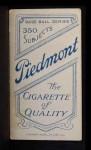 1909 T206 CHI Del Howard  Back Thumbnail