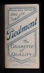 1909 T206  Billy Sullivan  Back Thumbnail