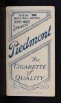 1909 T206 BAT Lefty Leifield  Back Thumbnail