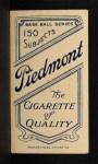 1909 T206 PCH Ed Killian  Back Thumbnail