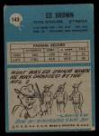 1964 Philadelphia #143  Ed Brown  Back Thumbnail