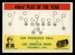 1964 Philadelphia #168   -  Red Hickey 49ers Play of the Year Front Thumbnail