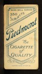 1909 T206  Topsy Hartsel  Back Thumbnail