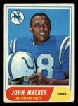 1968 Topps #74  John Mackey  Front Thumbnail