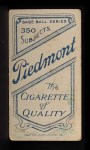 1909 T206 #75 BAT Wid Conroy  Back Thumbnail
