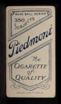 1909 T206 #191 BAT Red Kleinow  Back Thumbnail
