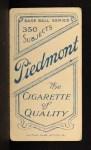 1909 T206 #169 POR Miller Huggins  Back Thumbnail