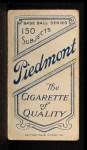 1909 T206 THR Danny Murphy  Back Thumbnail