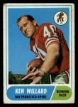 1968 Topps #34  Ken Willard  Front Thumbnail