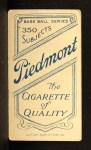 1909 T206 NY Jeff Sweeney  Back Thumbnail